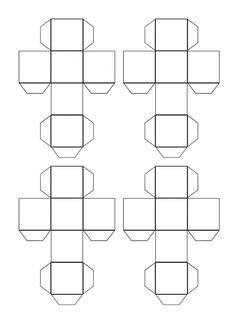 šablóna - kocka