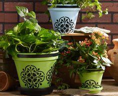 Tile Flower Pots