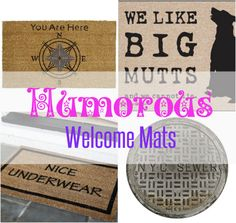 Make an impression and let your personality shine with these amazing welcome mats that make a statement. | #Ad