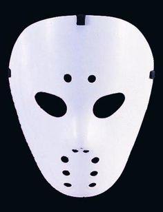 Eishockey Maske - Die weiße Hockey Maske ist der Schrecken aller Teenager #masken #karneval #carnival #masks