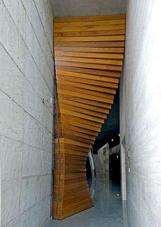Curtain Door by Matharoo Associates YES PLEASE. #design #secret #doorway