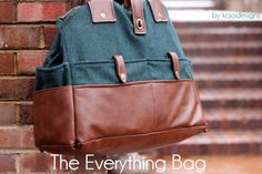 The everything bag - GORGEOUS! Holds camera, laptop, baby stuff, and EVERYTHING else!  :)