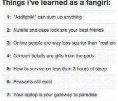 Things I've learned as a fangirl