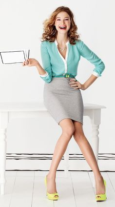 Business professional outfit great for body type X and standard. Coloring recommended for winter spring and summer palettes. Do you know your body type and colors? Visit www.auraimageconsulting.com to discover what styles suits you.