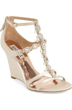 1beaf8a1878 Badgley Mischka  Cashet  Embellished T-Strap Wedge (Women) available at