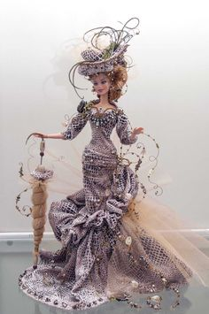 Dress Barbie, Barbie Wedding Dress, Barbie Gowns, Beautiful Barbie Dolls, Vintage Barbie Dolls, Disney Barbie Dolls, Diy Barbie Clothes, Doll Clothes, Fashion Royalty Dolls