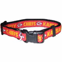 "-""Kansas City Chiefs NFL Dog Collars"" - BD Luxe Dogs & Supplies"
