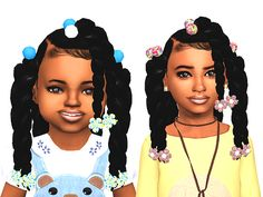 sims 4 cc // custom content child toddler hairstyle // #sims4 #sims4cc // black simmer, african african, ethnic hair by Ebonix | Xoe | simminginmelanin
