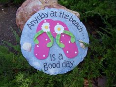 Concrete Plastic Mold Any Day At The Beach by GramsGardenDecor, $11.95