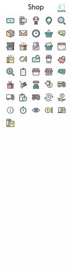 Shop. Icons