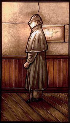Image of Sherlock Holmes in stained glass by Joseph Toronto. Best Mysteries, Baker Street, Doctor Strange, Weird World, Random Thoughts, Sherlock Holmes, Art Reference, Joseph, Stained Glass