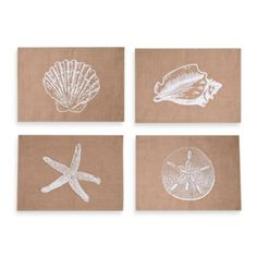 Thro Assorted Coastal Jute Placemats (Set of 4) - BedBathandBeyond.com  Could make pillows out of these.