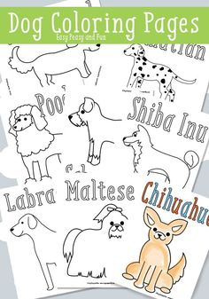 Dog Coloring Pages - Free Printable - Easy Peasy and Fun