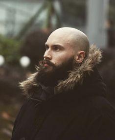 Bald Men With Beards, Bald With Beard, Grey Beards, Hairy Men, Bearded Men, Beard Styles For Men, Hair And Beard Styles, Beard No Mustache, Moustache