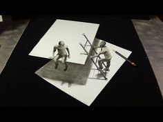 Cool draw step by step. How to draw optical illusion? Impossible drawing on paper. 3D anamorphical illusion. Trick Art Drawing 3D. You can follow me on faceb...