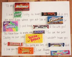 Repeat crafter me: candy bar card bf gifts, nerd gifts, diy father's day Christmas Gifts For Boyfriend, Birthday Gift For Him, Valentines Day Gifts For Him, Valentines Diy, Diy Christmas Gifts, Diy Birthday, Birthday Ideas, Birthday Cards, Valentine Stuff