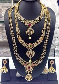 Artificial Bridal Jewellery Sets for South Indian Bride. South Indian Bridal Jewellery, Indian Wedding Jewelry, India Jewelry, Gold Jewelry, Jewelery, Trendy Jewelry, Bridal Beauty, Bridal Sets, Jewelry Collection