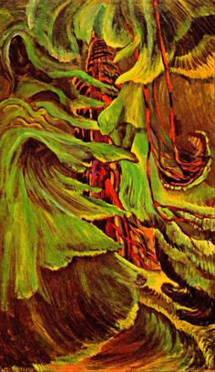 emily carr, a fearless and original painter from western Canada Canadian Painters, Canadian Artists, Impressionist Paintings, Landscape Paintings, Landscapes, Emily Carr Paintings, Deep Forest, Classical Art, Native Art