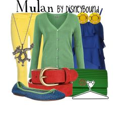 Mulan, created by lalakay on Polyvore