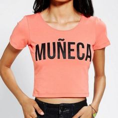Maricela Marcel Muneca Crop Top S Maricela marcel muneca crop top. Size small. Worn only once. Urban Outfitters Tops Crop Tops