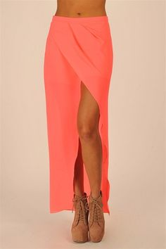 Floor Length Skort - Pink#Repin By:Pinterest++ for iPad#