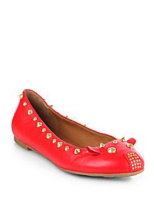 020174e2cd5 Marc by Marc Jacobs - Studded Leather Mouse Ballet Flats Studded Leather