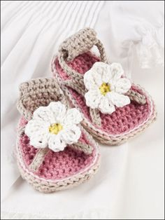 Beautiful Baby Shoes - Crochet Pattern