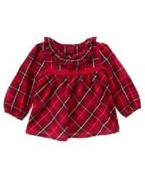 Gymboree Holiday Traditions Red Plaid Swing Top 12 - 18 months New Free Ship & I Pay Slice!
