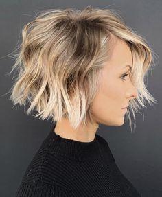 Haircut For Thick Hair, Choppy Bob For Thick Hair, Hair Short Bobs, Short Choppy Bobs, Layers On Short Hair, Short Cuts, Bob Cut Hair, Thick Hair Bobs, Short Hair Cuts For Fine Thin Hair