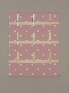 Fabric Memo Board, Shabby Chic - Pink and White Dots[Memo Board]