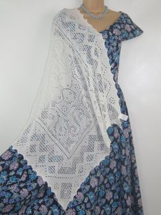 Your place to buy and sell all things handmade Vintage Soft, Laura Ashley, Modest Fashion, White Cotton, Scarf Wrap, Shawl, Short Sleeve Dresses, Footwear, Retro