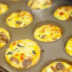 9 Healthy Recipes to Get Kids Cooking - Egg muffins, healthy at its finest, be creative, get cooking they will LOVE it. Easy peasy