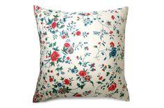 古典的でカラフルでエレガントな花柄ヴィンテージクッション #cushion #cushioncover #クッション #クッションカバー #ヴィンテージ #アンティーク #vintage