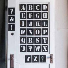 Desna Letter Stencils