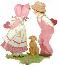 Holly Hobbie - what my momma grew up with! A little bit Strawberry Shortcake like.