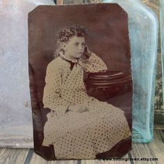 1800's Tintype Photo Little Girl with Curly Hair by SmilingRaven