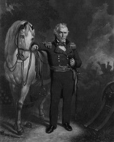 General Zachary Taylor, H's favorite from the Mexican American War