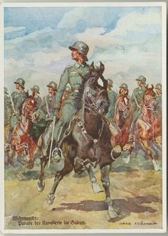 Wehrmachts cavalry parade unit art PC from the Wehrmacht