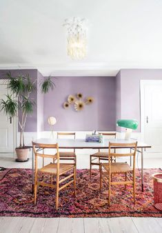 Stylish Awesome Moroccan Dining Room Design You Should Try Decor, Dining Room Design, Purple Dining Room, Moroccan Dining Room, Dining Room Rug, Interior, Purple Living Room, Dining Room Decor, Dining