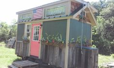 A 191 square feet off grid tiny house on wheels in Morristown, Tennessee. Designed by Randy Jones.