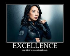 Ming Na Wen as Melinda May (The Cavalry) on Agents of S.H.I.E.L.D.