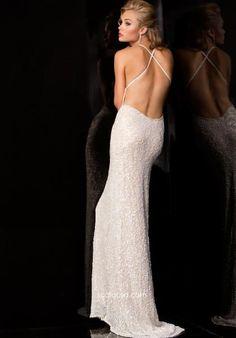 Open Back Scala Prom Dress 47542