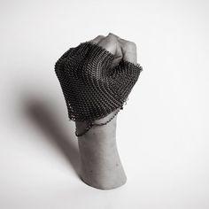 Tobu Jones chainmail gloves for the warrior women of Bear Island