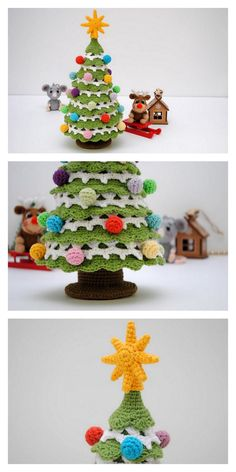 Crochet Christmas Trees, Christmas Tree Pattern, Christmas Crochet Patterns, Holiday Crochet, Handmade Christmas, Christmas Decor, Xmas, Crochet Winter, Crochet For Kids