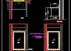 Toilet Plumbing Detail with Pipes and fittings - Autocad DWG Bathroom Vanity Designs, Small Bathroom Vanities, Bathroom Design Small, Semi Recessed Basin, Pvc Pipe Fittings, Small Vanity, Counter Design, Kid Pool, Autocad