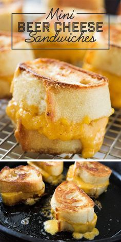 These Beer Cheese Sandwiches will be sure to impress and satisfy your game day crowd!