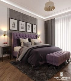 Bedroom interior design in the residential complex Moscow quarter Architect Igor Grigoriev Bedroom Apartment, Home Bedroom, Bedroom Wall, Bedroom Lamps, Apartment Design, Light Bedroom, Apartment Layout, Apartment Kitchen, Apartment Interior