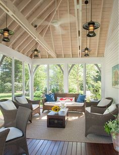 Maine Beach House With Clic Coastal Interiors Screened Porch Furniturescreened