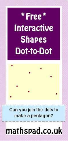 Shape Properties Dot-To-Dot - Interactive - can you find the shapes hidden in the dots?
