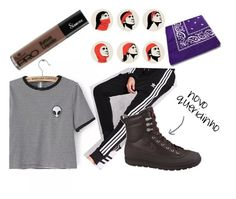 """I don't believe in Humans"" by bela-carapinheiro-valimaa on Polyvore featuring moda, adidas e NIKE"
